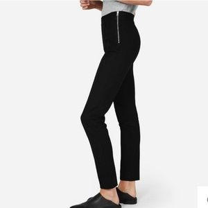 Everlane Black Stretch Ponte Knit High-Rise Pants
